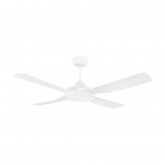 EGLO 35088 | Bondi-1 Eglo ventilátor stropné diaľkový ovládač časový spínač, UV vzdorný plast UV matný biely