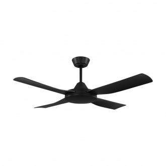 EGLO 35091 | Bondi-1 Eglo ventilátor stropné diaľkový ovládač časový spínač, UV vzdorný plast UV matná čierna
