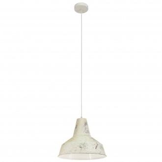 EGLO 49249 | Somerton Eglo visiace svietidlo 1x E27 antická biela, biela