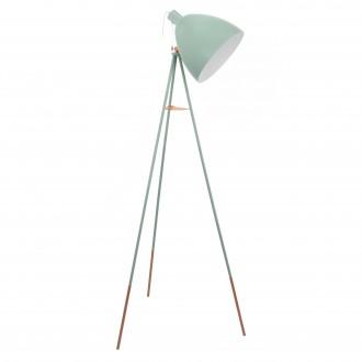 EGLO 49342 | Dundee Eglo stojaté svietidlo 135,5cm prepínač na ťah 1x E27 mäta