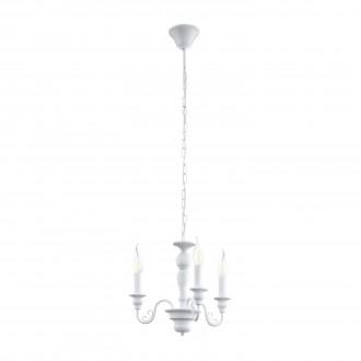 EGLO 49384 | Caposile Eglo luster svietidlo 3x E14 biela