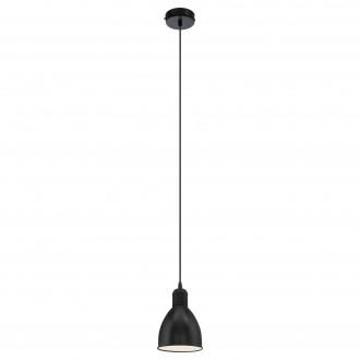 EGLO 49464 | Priddy Eglo visiace svietidlo 1x E27 čierna, biela