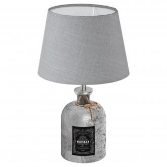EGLO 49667 | Mojada Eglo stolové svietidlo 33cm prepínač na vedení 1x E27 strieborný, sivé
