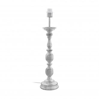 EGLO 49947 | Larache Eglo stolové svietidlo - bez tienidla 64cm prepínač na vedení 1x E27 strieborný