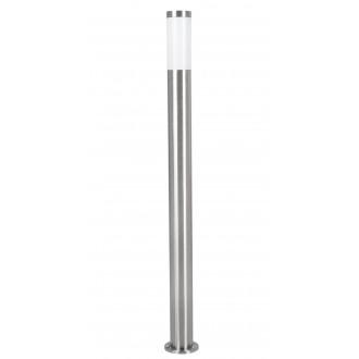 EGLO 81752 | Helsinki Eglo stojaté svietidlo 110cm 1x E27 IP44 zušľachtená oceľ, nehrdzavejúca oceľ, biela