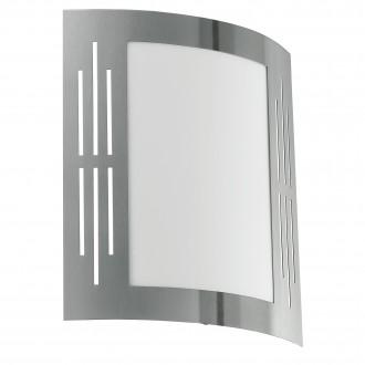 EGLO 82309 | City Eglo stenové svietidlo 1x E27 IP44 zušľachtená oceľ, nehrdzavejúca oceľ, biela