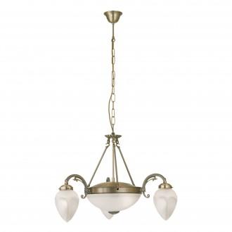 EGLO 82742 | Imperial Eglo luster svietidlo 3x E14 + 2x E27 bronzová, biela
