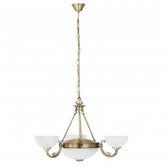 EGLO 82748   Savoy Eglo luster svietidlo 3x E14 + 2x E27 bronzová, biela