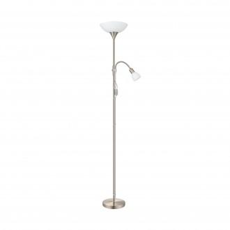 EGLO 82842 | UP2 Eglo stojaté svietidlo 176,5cm prepínač 1x E27 + 1x E14 matný nikel, biela