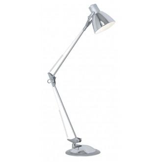 EGLO 82939 | Time Eglo stolové, zverákové svietidlo 82cm prepínač flexibilné 1x E27 chróm, strieborný
