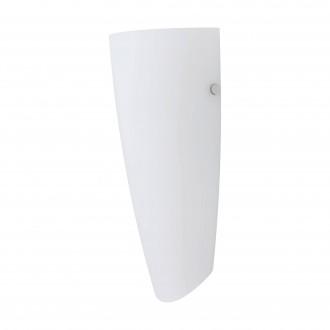 EGLO 83119 | Nemo Eglo stenové svietidlo 1x E27 matný nikel, biela, matný opál