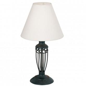EGLO 83137 | Antica Eglo stolové svietidlo 38,6cm prepínač na vedení 1x E14 antické hnedé, biela