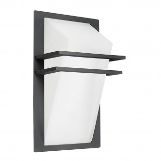 EGLO 83433 | Park Eglo stenové svietidlo 1x E27 IP44 antracit, saténový