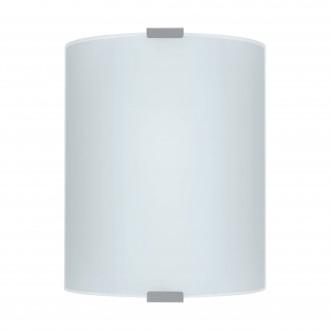 EGLO 84028 | Grafik Eglo stenové, stropné svietidlo 1x E27 strieborný, saténový, vzorka