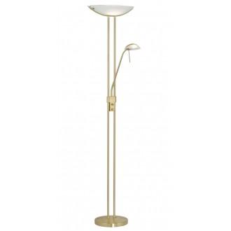 EGLO 85973 | Baya Eglo stojaté svietidlo 180cm prepínač s reguláciou svetla 1x R7s + 1x G9 matný zlatý, biela
