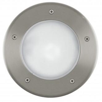 EGLO 86189 | Riga3 Eglo zabudovateľné svietidlo Ø170mm 1x E27 IP67 IK09 zušľachtená oceľ, nehrdzavejúca oceľ, opál