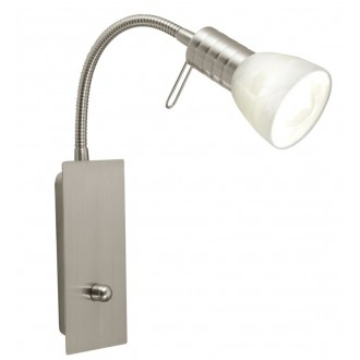 EGLO 86428 | Prince1 Eglo stenové svietidlo prepínač s reguláciou svetla flexibilné 1x E14 matný nikel, alabaster