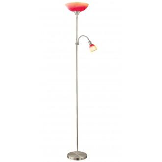 EGLO 86654   UP4 Eglo stojaté svietidlo 178cm prepínač na vedení 1x E27 + 1x E14 matný nikel, červená, pomaranč