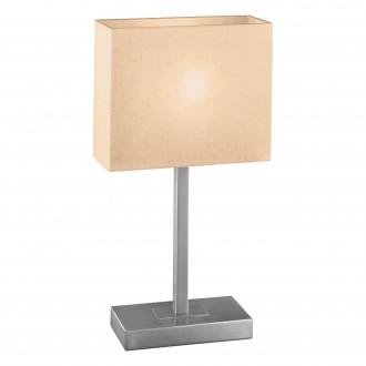 EGLO 87598 | Pueblo1 Eglo stolové svietidlo 48cm dotykový vypínač 1x E14 matný nikel, biela