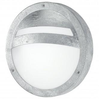 EGLO 88119 | Sevilla Eglo stenové, stropné svietidlo kruhový 1x E27 IP44 pozinkovaná, biela, saténový