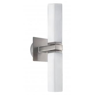 EGLO 88284 | Palermo Eglo stenové svietidlo 2x G9 IP44 matný nikel, matný opál