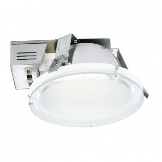 EGLO 89087 | Xara1 Eglo zabudovateľné - zapustené svietidlo Ø185mm 1x G24q-2 / T2U/4P biela, saténový