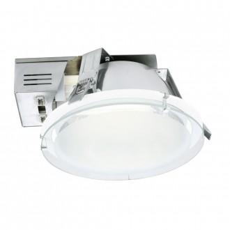 EGLO 89092 | Xara1 Eglo zabudovateľné - zapustené svietidlo Ø220mm 2x G24q-2 / T2U/4P biela, saténový