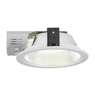 EGLO 89097 | Xara2 Eglo zabudovateľné - zapustené svietidlo Ø235mm 2x G24q-3 / T2U/4P biela, saténový