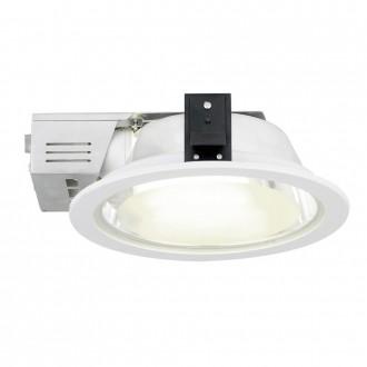 EGLO 89105 | Xara2 Eglo zabudovateľné - zapustené svietidlo Ø235mm 2x E27 biela, saténový