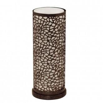 EGLO 89116 | Almera Eglo stolové svietidlo 29,5cm prepínač na vedení 1x E27 antické hnedé, šampanské