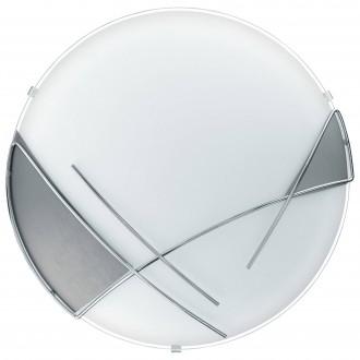 EGLO 89758 | Raya Eglo stenové, stropné svietidlo 1x E27 chróm, saténový, strieborný
