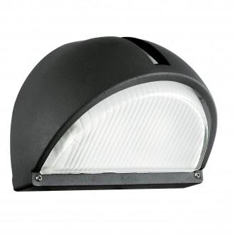 EGLO 89767 | Onja Eglo stenové svietidlo 1x E27 IP44 čierna, priesvitné