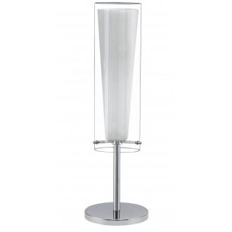 EGLO 89835 | Pinto Eglo stolové svietidlo 50cm prepínač na vedení 1x E27 chróm, biela, priesvitné