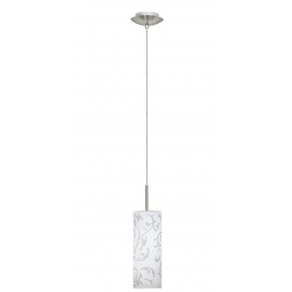 EGLO 90047 | Amadora Eglo visiace svietidlo 1x E27 matný nikel, biela