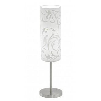 EGLO 90051 | Amadora Eglo stolové svietidlo 46cm prepínač na vedení 1x E27 matný nikel, biela