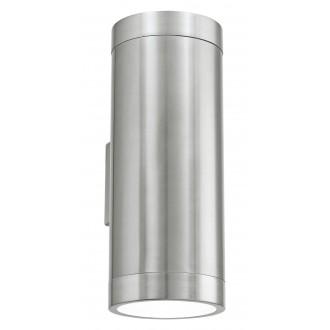 EGLO 90121 | Ascoli Eglo stenové svietidlo 2x E27 IP44 zušľachtená oceľ, nehrdzavejúca oceľ, priesvitné