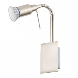 EGLO 90823   Eridan Eglo stenové svietidlo prepínač na vedení flexibilné 1x GU10 400lm 3000K matný nikel