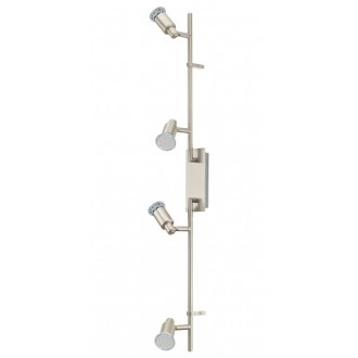 EGLO 90826 | Eridan Eglo stenové, stropné svietidlo otočné prvky 4x GU10 1600lm 3000K matný nikel