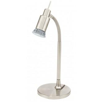 EGLO 90829 | Eridan Eglo stolové svietidlo 34cm prepínač na vedení flexibilné 1x GU10 400lm 3000K matný nikel