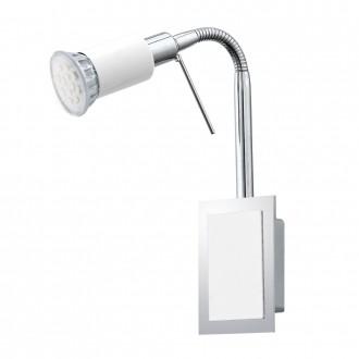 EGLO 90832 | Eridan Eglo stenové svietidlo prepínač na vedení flexibilné 1x GU10 400lm 3000K chróm, jasná biela