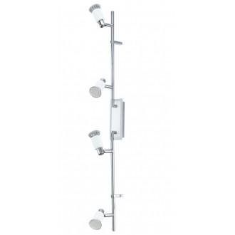 EGLO 90835 | Eridan Eglo stenové, stropné svietidlo otočné prvky 4x GU10 1600lm 3000K chróm, jasná biela