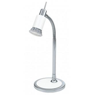 EGLO 90838 | Eridan Eglo stolové svietidlo 34cm prepínač na vedení flexibilné 1x GU10 400lm 3000K chróm, jasná biela