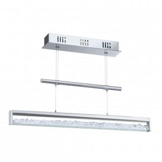 EGLO 90928 | Cardito Eglo visiace svietidlo protiváhové, nastaviteľná výška 1x LED 1800lm 3000K chróm, krištáľ