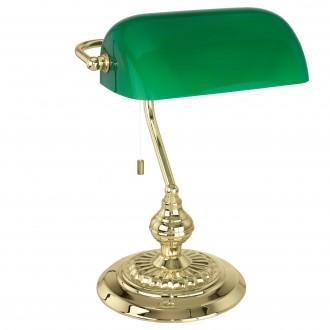 EGLO 90967 | Banker Eglo stolové svietidlo 39cm prepínač na ťah 1x E27 meď - medené, zelená