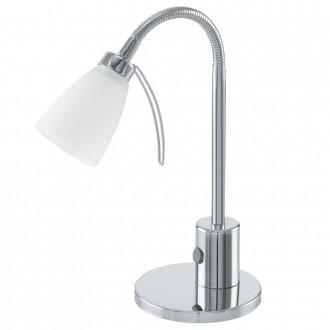 EGLO 91465 | Cariba Eglo stolové svietidlo 30cm prepínač na vedení flexibilné 1x G9 chróm, biela