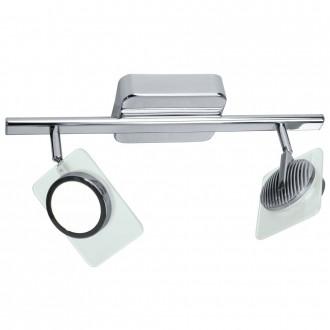 EGLO 91634 | Tinnari Eglo stenové, stropné svietidlo otočné prvky 2x LED 1090lm 3000K chróm, priesvitné