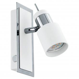 EGLO 92084 | Davida Eglo stenové svietidlo prepínač otočné prvky 1x GU10 400lm 3000K chróm, biela