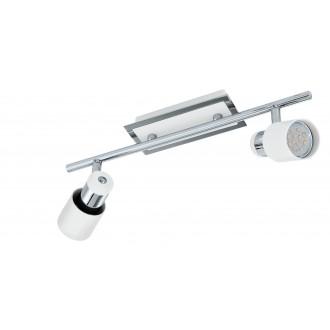 EGLO 92085 | Davida Eglo stenové, stropné svietidlo otočné prvky 2x GU10 800lm 3000K chróm, biela