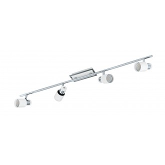 EGLO 92087 | Davida Eglo stenové, stropné svietidlo otočné prvky 4x GU10 1600lm 3000K chróm, biela