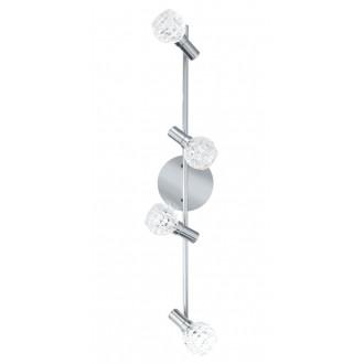 EGLO 92105 | Hania Eglo stenové, stropné svietidlo otočné prvky 4x LED 916lm 3000K chróm, priesvitné